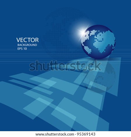 Modern globe business abstract background, vector illustration