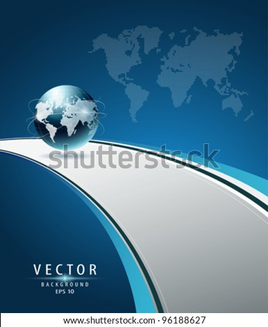Modern Globe vector (concept road to the glove) illustration