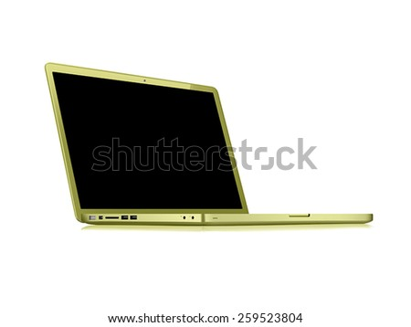 modern gold glossy laptop