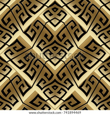 modern gold vector meander