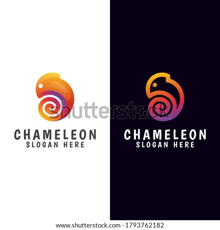 modern gradient chameleon logo