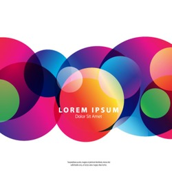 Modern Graphic/Design Elements. Abstract Template with Clean Minimal Style. Overlapping Colorful Circles in White Background