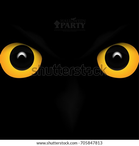 Modern Graphic/Design Elements. Abstract Template with Clean Minimal Style. Owl Eyes for Halloween Layout/Cover Background