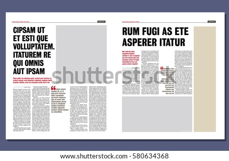 Royalty Free Graphical Design Tabloid Newspaper 497030836 Stock
