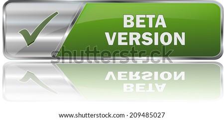 modern green beta version button