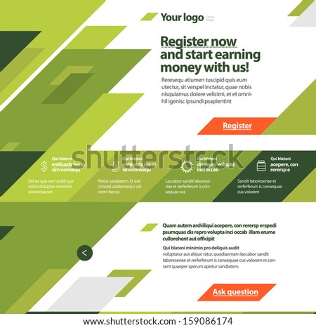 modern green flat website
