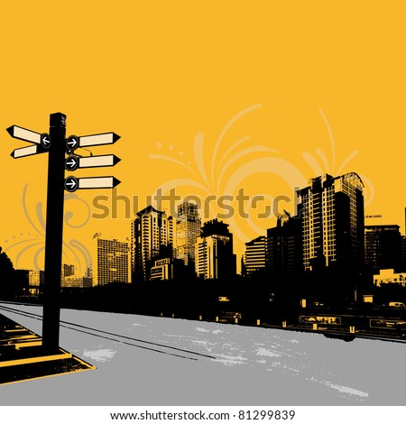 stock vector modern grunge urban graphic design 81299839 - Каталог — Фотообои «Улицы, переулки»