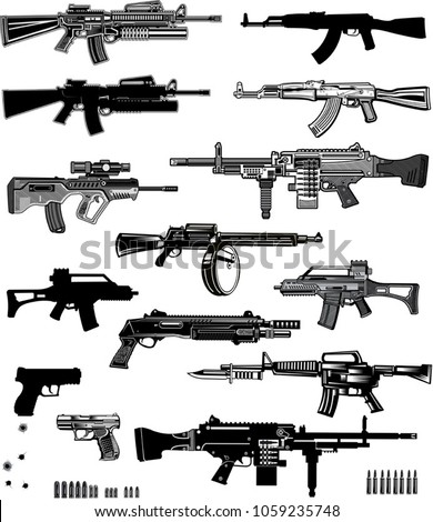 modern  guns  automatic weapon