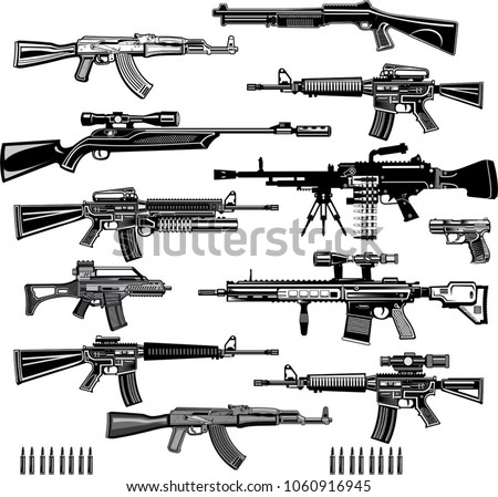 modern  guns  automatic weapon
