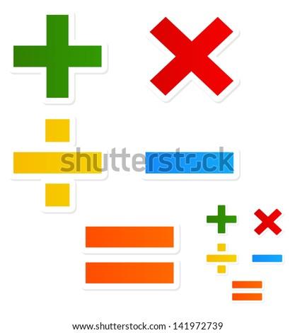Modern, happy Mathematical symbols Stock photo ©