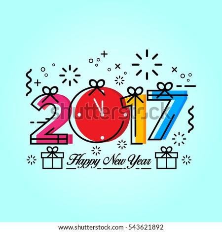 modern happy new year 2017