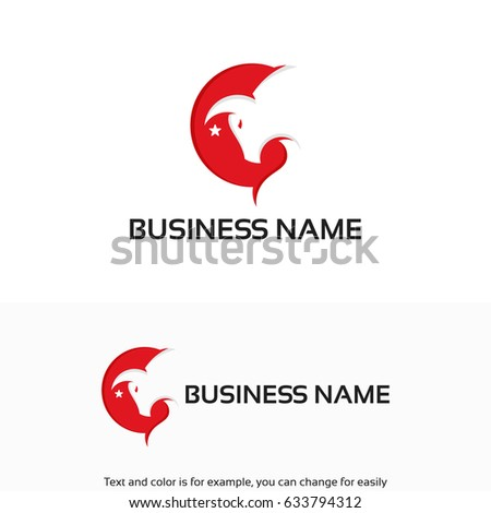 modern head bull logo designs