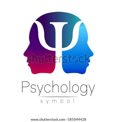 modern head sign logo of