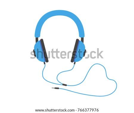 modern headphone icon cartoon