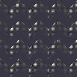 Modern herringbone pattern halftone textured surface. Pin dot line zig zag waves allover design. Simple geometric repeat print block for fabric textile, wrapping, paper bag, gift box, web background.