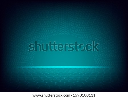 Modern hexagon background with arch hexagon curve on gradients background.