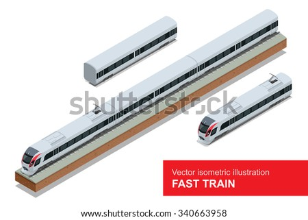modern high speed train vector