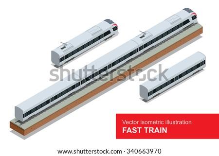 modern high speed train vector
