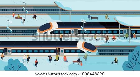 modern high speed trains