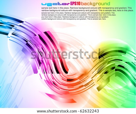 Modern High Tech Abstract Rainbow Business Card