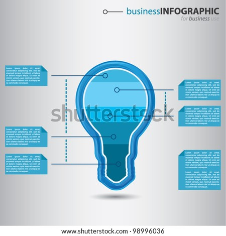 Modern high-tech bulb with graphic value presentation inside, smart business info graphic concept, vector illustration