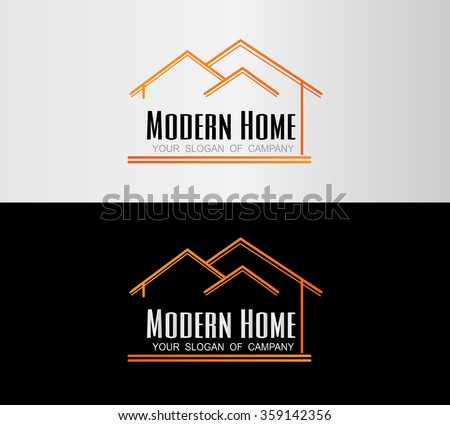 Modern home real estate logo house stock vector for Modern house logo
