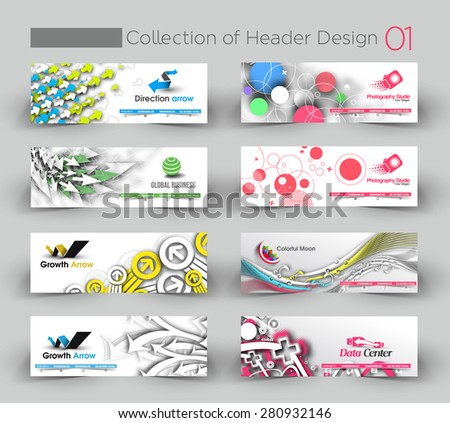 Modern Horizontal Banner & Header Template