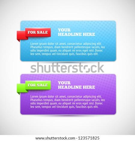Modern horizontal web banner
