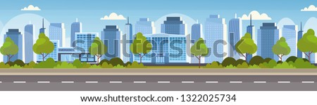 modern hospital clinic and bank building front view of financial and medical institution exterior urban city panorama skyscrapers cityscape background skyline flat horizontal banner
