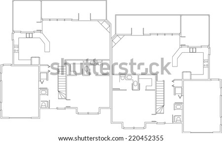 Free Floor Plan Vector - Download Free Vector Art, Stock Graphics ...