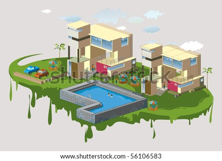 modern house isometric series. see the others
