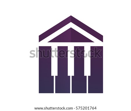 modern house real estate logo