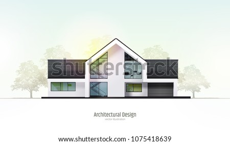 modern house  villa  cottage