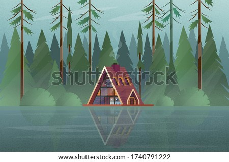 modern house with trees in the