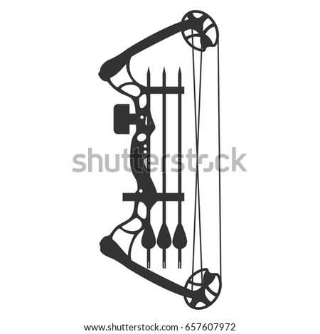 Modern hunting compound bow and arrow. Vector illustration