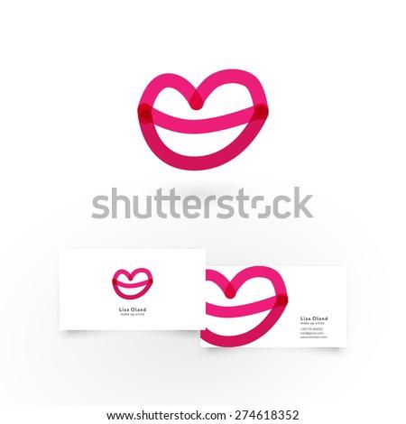 modern icon design lips shape
