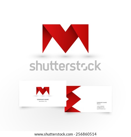 modern icon design m letter