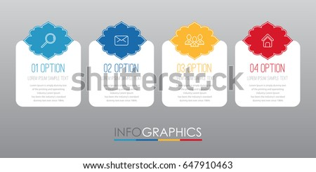 Modern Indian style Info-graphic Template for Business Timeline with 4 steps multi-Color design, labels design, Vector info-graphic element, Flat style vector illustration.