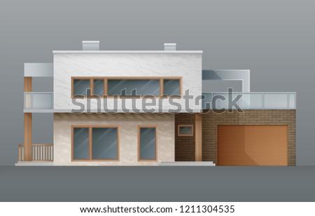 modern individual two storey