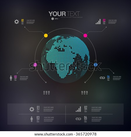 modern infographic design with