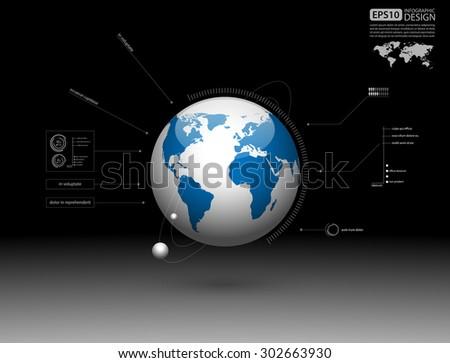 modern infographic global
