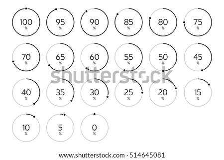 Modern Infographic Loading Circle Set