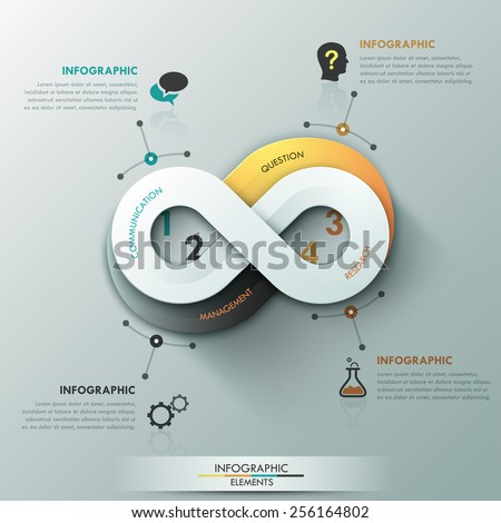 Modern Infographic Option Banner With Abstract Round Infinity ...