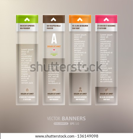 Modern infographic template for business design Can be used for infographic posters banners cards paper designs website layouts and web designs diagrams and presentations eps10 vector