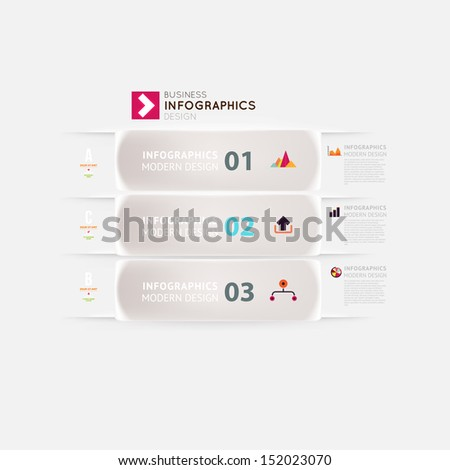 Modern infographic template for business design with ribbons Can be used for banners cards paper designs website layouts diagrams and presentations Vector eps10 illustration