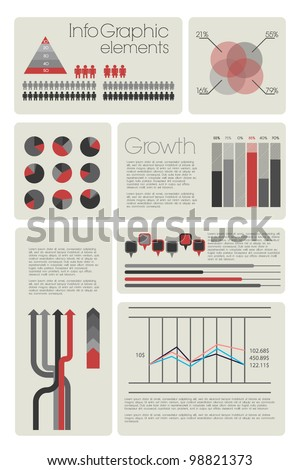 Modern infographic with elemnts - stock vector