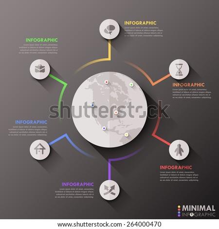 modern infographics flat global