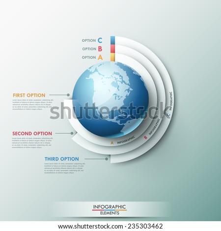 modern infographics global