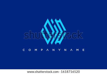 modern initial letter S I C logo. simple icon, template design Foto stock ©