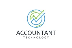 Modern inspirational logo with accounting theme